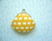 Custom order for Becca- Cute Little Elephant in Yellow coin purse