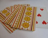 Sunflowers and Stripes Playing Cards- Set of 6
