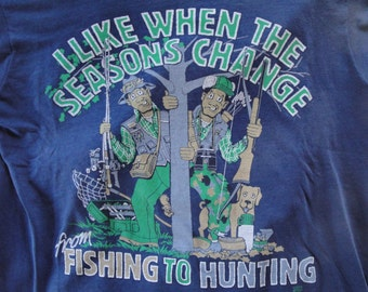 Vintage Hunting & Fishing Tshirt
