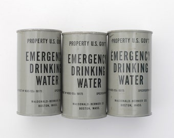 Vintage Can of Emergency Drinking Water
