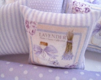 1:12 LAVENDER POLKA DOTS Pillow