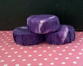 Lavender Goat Milk Soap with Olive Oil in Handpainted Wrap free U.S. shipping