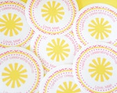 You are my sunshine stickers-Little Miss Sunshine stickers-Sunshine birthday -pink and yellow-You are my Sunshine-
