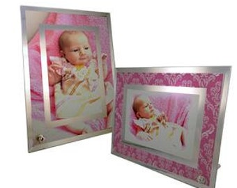 Personalized Picture Frame 6x9  Mirror Glass Color Custom Personalized With Your Own Picture  Great Gift.