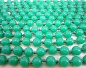 SUPER LONG peking glass jade hand knotted art deco flapper necklace 98 INCHES