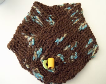Brown Multi Scarflette