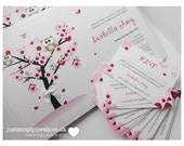 10 x Christening Invitations with a cute owl theme!