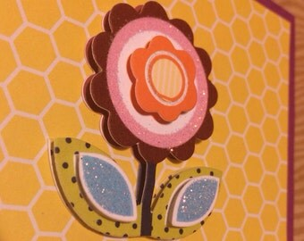 Flower Power Greeting Card **READY TO SHIP**