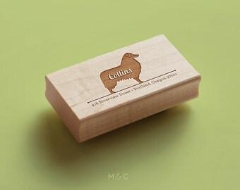 Australian Shepherd  - Personalized Address Stamp