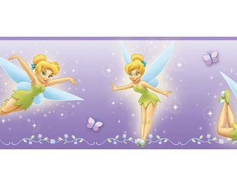 Wallpaper Border - Disney Tinker Bell on Lavender by Imperial - Pattern 83182030 - Discontinued