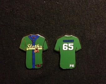 Phish Mike Gordon 2 Pin Set Sloths Baseball Jersey Friendship Pin Set