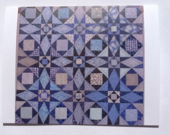 Blue Quilt Note Card (folded)