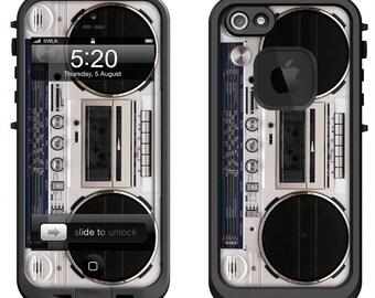 Lifeproof iPhone 6 Fre, LifeProof iPhone 5 5S 5C Fre Nuud, Lifeproof iPhone 4 4S Fre Case Decal Skin Cover - Retro Boombox