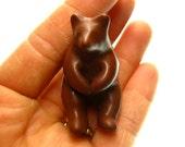 Itty Bitty Brown Bear Richie polymer clay OOAK handmade sculpture