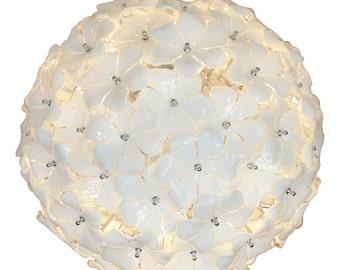 Murano glass chandelier : Mid Century design Lotus flower