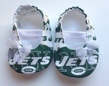 NY Jets Baby Maryjane Booties