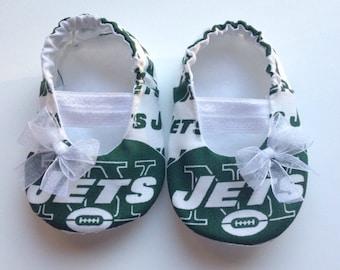 NY Jets Baby Maryjane Booties