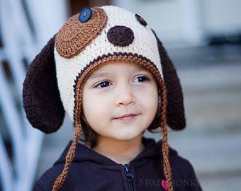 Dog Hat, Baby Dog Hat, newborn hat, Toddler Hat, Winter Hat, Toddler Halloween Costume, Dog Costume