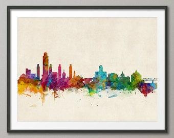 Albany Skyline, Albany New York Cityscape Art Print (1001)