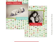 INSTANT DOWNLOAD - Photoshop Christmas Card Professional Template - E108