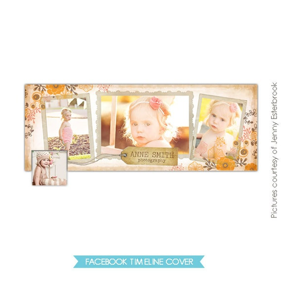 INSTANT DOWNLOAD - Facebook custom timeline cover - Photoshop template E345-3