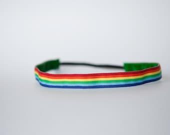 """No Slip Headband Rainbow 5/8"""""""