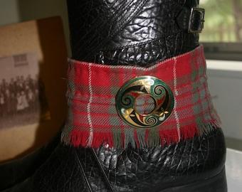Cuff Outlander Tartan Plaid Kilt Boot Cuff