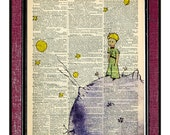 THE LITTLE PRINCE Book Art Wall Hangings Illustration Wall Decor Little Prince Drawing Kids Art Print Digital Illustration Kids Wall Art