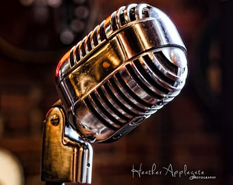 Gallery Wrap Canvas - Vintage Microphone  - Choose a size