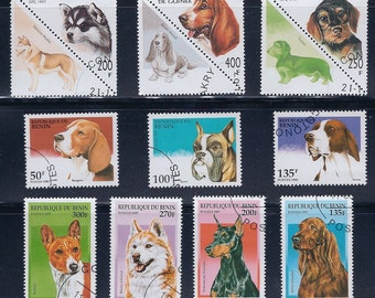 Dogs on Parade - Vintage Stamps - (3A)