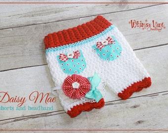 Newborn Shorts Set - Daisy ~ Photo Prop - Baby Girl