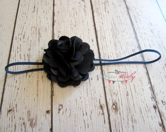 Petite Navy / Midnight Blue Headband with Satin & Tulle -  Baby Infant Toddlers Girls Women Gift  Wedding