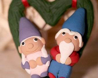 Gnome Couple Ornament