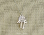 GOING OUT of BUSINESS Hamsa Hand Necklace - Fatima Hand - Evil Eye Necklace - Good Luck Necklace