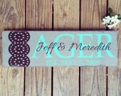 Personalized family sign. Family Established sign. Name sign. Shower gift. Wedding sign.