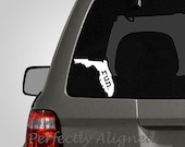 Florida RUN Home State Vinyl Decal