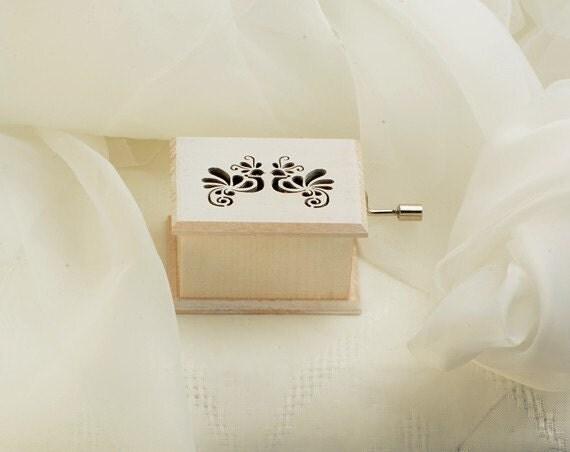 ... gift music folk art box wedding march birds