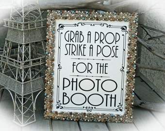 NOT a printable - Photo Booth Sign-Art Deco Style -8 x 10 Wedding Sign-