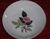Vintage Wedgwood Bone China Miniature Plate Hathaway Rose Jewelry Dish England Pin Dish