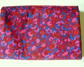 German Vintage Retro Fabric with Flowers Textile Yardage for sewing / sewing supply