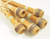 Vintage Wood Textile Sewing Spindles for Thread lot of 5