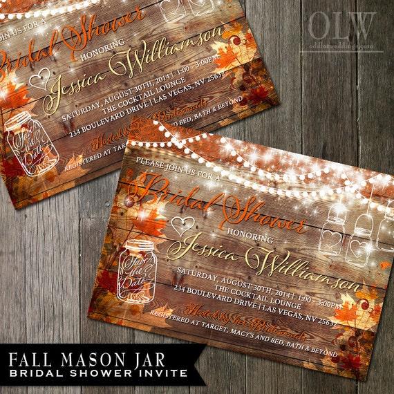 Rustic Fall Bridal Shower Invitation Rustic By OddLotPaperie
