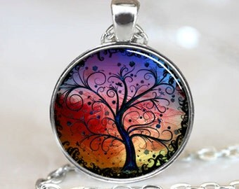 Tree of Life Necklace, Tree of Life Pendant, Tree of Life Jewelry, Tree of Life Charm, Tree of Life Woodland Pendant Silver(PD0534)