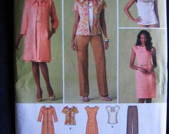 Simplicity Coat Jacket Dress Top Shirt Pants Pattern 2453 UC Uncut FF Size 20 22 24 26 28 W Plus