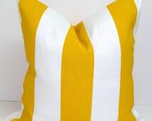 GOLD Stripe Pillows, Decorative Pillow Cushions, OUTDOOR Pillow Cover, Decorative Pillow, Outdoor Pillow, Stripe Pillow, Floral,All Sizes,cm