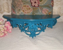 SALE.....Syroco Wall Shelf/Bed Crown,Shabby Chic,Up cycled,French,French Country,Cottage,Cottage Chic