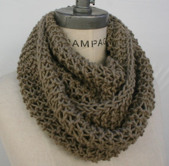 Knitting Items To Sell : Best selling items hand knit scarf tan infinity women