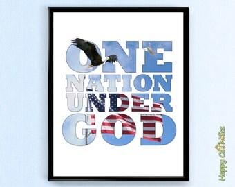 "One Nation Under God 8""x10"" Print"