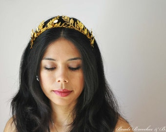 Gold Leaf Headband,Grecian Headband,Gold PlatedHeadband,Gold Leaf,Greek Roman,Leaf Headpiece,Greek Grecian Tiara,Gold Tiara,Greek Goddess