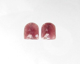 Natural Pink Sapphire, Fancy Rose Cut, Lot (2) of 18.26 carats